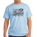 Funny 16th birthday Mens Light T-shirts