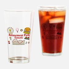 Amusement Park Fanatic Drinking Glass