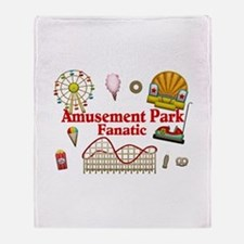 Amusement Park Fanatic Throw Blanket