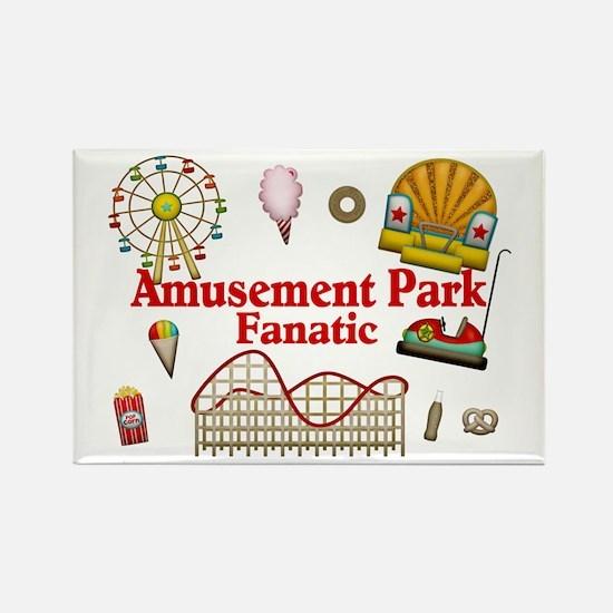 Amusement Park Fanatic Rectangle Magnet