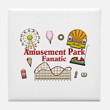 Amusement Park Fanatic Tile Coaster