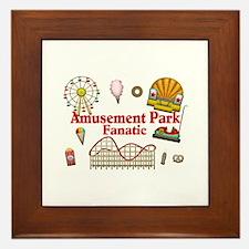 Amusement Park Fanatic Framed Tile