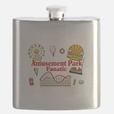 Amusement Park Fanatic Flask
