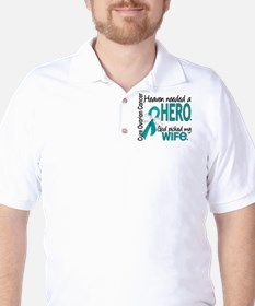 Ovarian Cancer Heaven Needed Hero 1.1 T-Shirt