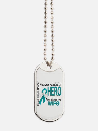 Ovarian Cancer Heaven Needed Hero 1.1 Dog Tags