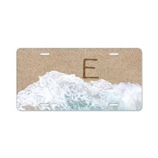 LETTERS IN SAND E Aluminum License Plate