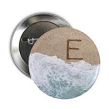 "LETTERS IN SAND E 2.25"" Button"