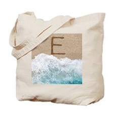 LETTERS IN SAND E Tote Bag