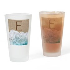 LETTERS IN SAND E Drinking Glass