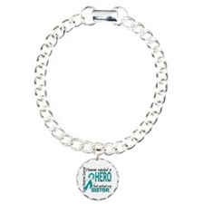 Ovarian Cancer Heaven Ne Charm Bracelet, One Charm