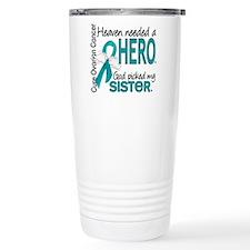Ovarian Cancer Heaven N Travel Coffee Mug