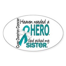 Ovarian Cancer Heaven Needed Hero 1 Decal