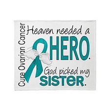 Ovarian Cancer Heaven Needed Hero 1. Throw Blanket