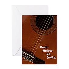 Music Makes Me Smile Greeting Card
