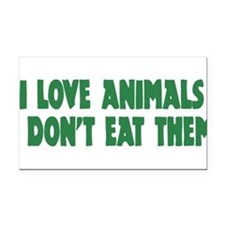 Funny Animal activist Rectangle Car Magnet