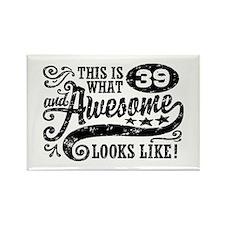 39th Birthday Rectangle Magnet