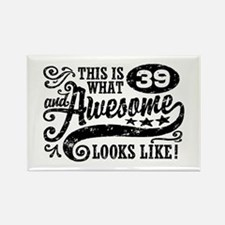 39th Birthday Rectangle Magnet