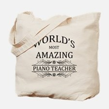 World's Most Amazing Piano Teacher Tote Bag
