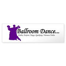 Ballroom Dance Bumper Bumper Sticker