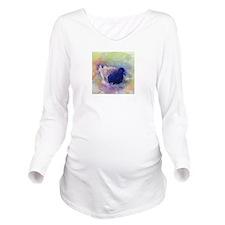 Easter Egg Pigeon Long Sleeve Maternity T-Shirt