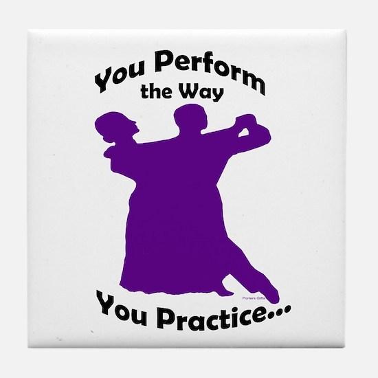 Ballroom Dance Tile Coaster