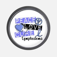 Lymphedema Peace Love Cure 1 Wall Clock