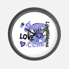 Lymphedema Peace Love Cure 2 Wall Clock