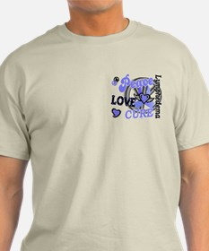 Lymphedema Peace Love Cure 2 T-Shirt