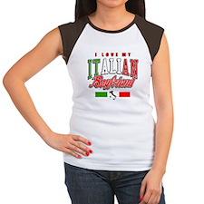 I Love my Italian Boyfriend Women's Cap Sleeve T-S