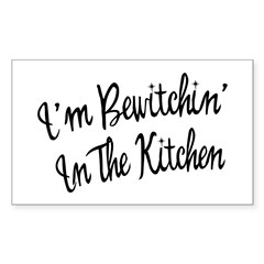 Bewitchin' In The Kitchen Rectangle Decal
