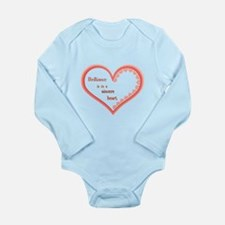 Brilliance is in a sincere heart Body Suit