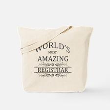 World's Most Amazing Registrar Tote Bag