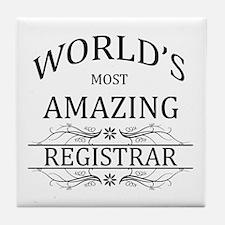 World's Most Amazing Registrar Tile Coaster