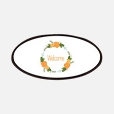 Welcome Rose Wreath Patches