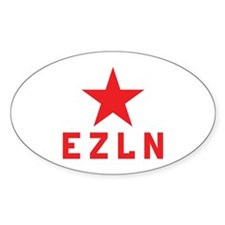 EZLN Marcos Oval Decal