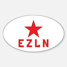 EZLN Marcos Oval Decal