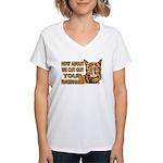 Cut Out Your Fingernails Women's V-Neck T-Shirt