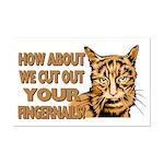 Cut Out Your Fingernails Mini Poster Print