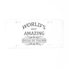 World's Most Amazing Specia Aluminum License Plate
