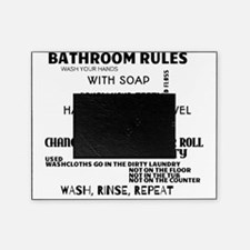 Bathroom Rules Picture Frame
