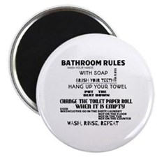 Bathroom Rules Magnet