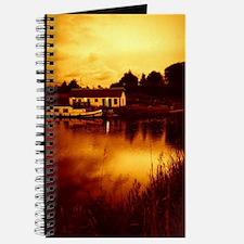 Beautiful evening at the lake Journal