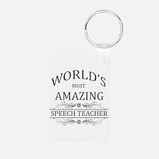 World's Most Amazing Speec Aluminum Photo Keychain