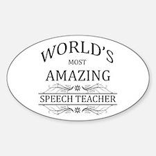 World's Most Amazing Speech T Decal