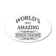 World's Most Amazing Speech Wall Decal