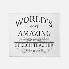 World's Most Amazing Speech Teacher Throw Blanket