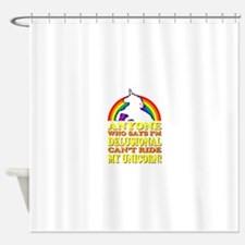 Funny! Delusional Unicorn Shower Curtain