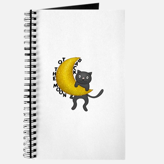 To The Moon & Back Kitty Cat Journal