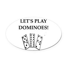 dominoes Oval Car Magnet