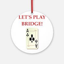 duplicate bridge Ornament (Round)